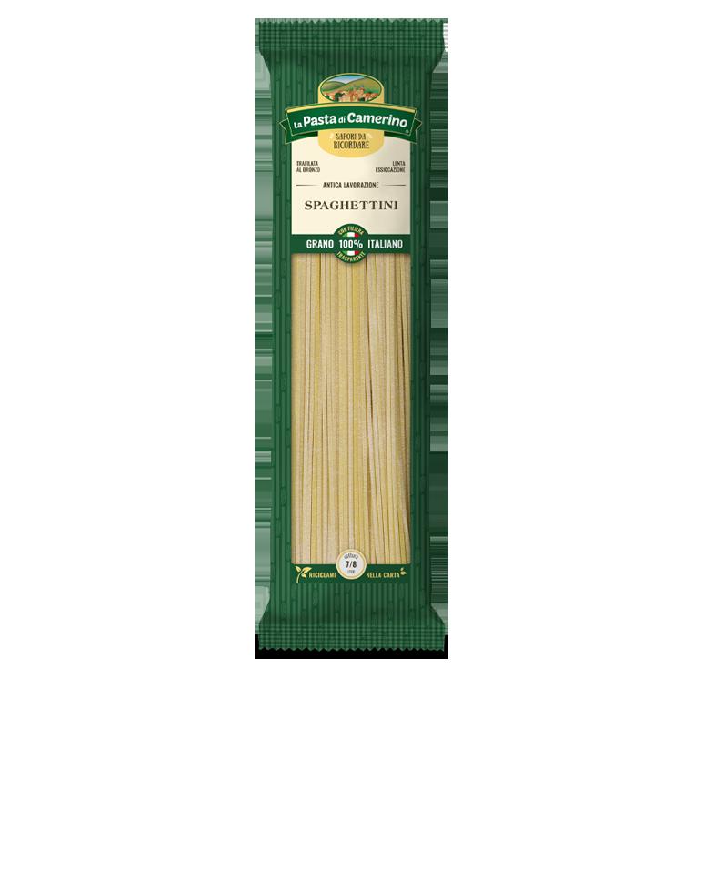 confezione da 500g di spaghettini di semola
