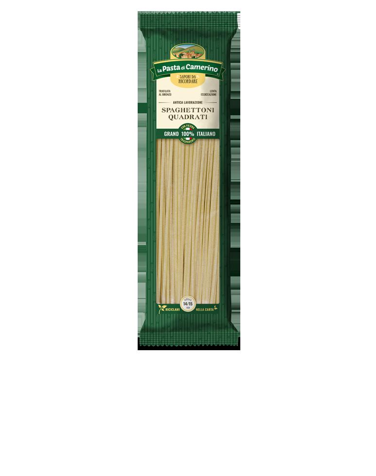 confezione da 500g di spaghettoni quadrati di semola