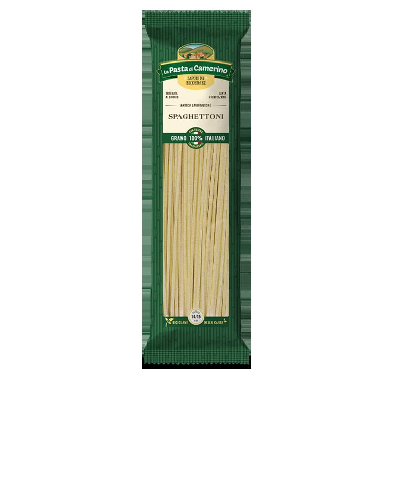 confezione da 500g di spaghettoni di semola