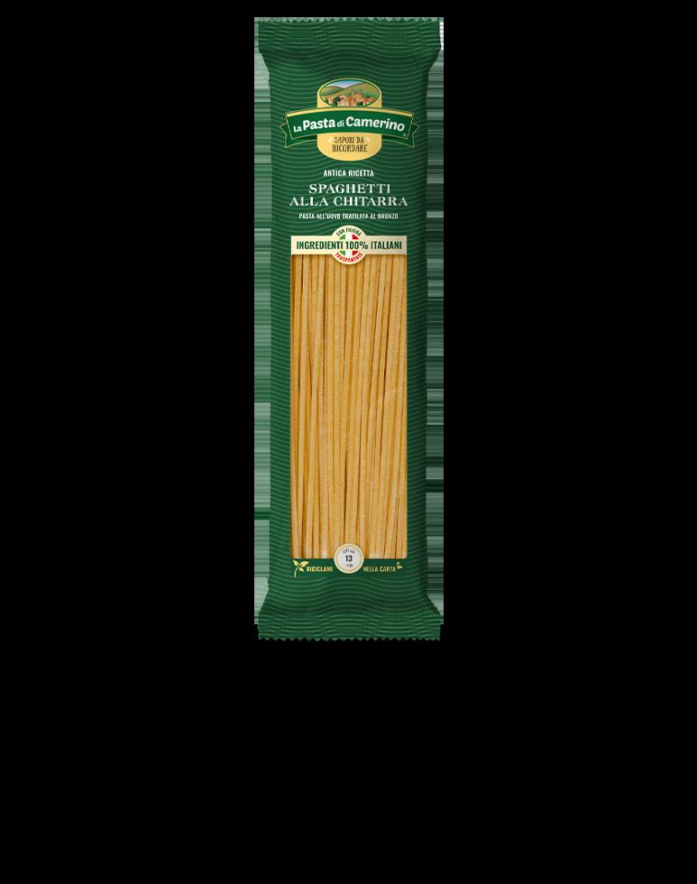 confezione da 500g di spaghetti alla chitarra all'uovo