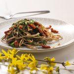 piatto di spaghetti Hammurabi con agretti