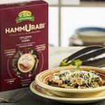 confezione e piatto di tortiglioni Hammurabi con melanzane