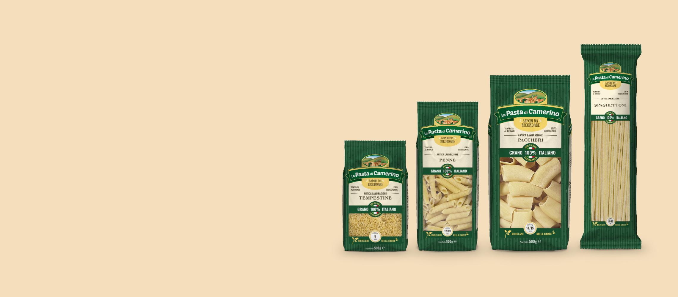 confezioni di pasta di semola